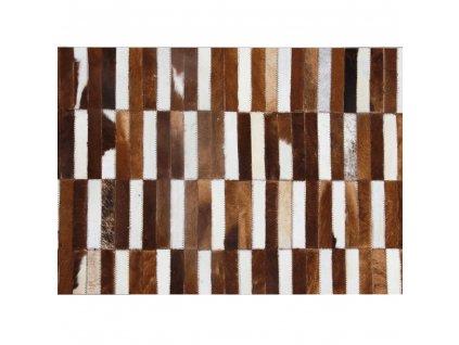 Luxusní koberec, pravá kůže, 171x240 cm, KŮŽE TYP 5
