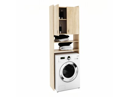 Skříňka nad pračku, dub sonoma, NATALI