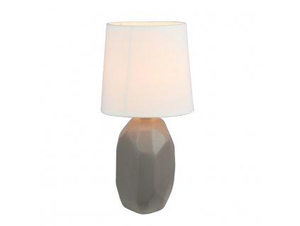 Keramická stolní lampa, šedohnědá taupe, QENNY TYP 3