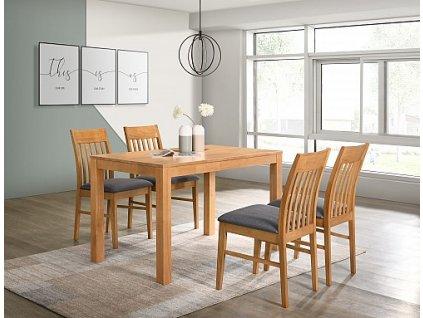 Jídelní stůl VAŠEK + židle VIOLA 1+4 buk/ látka Violet