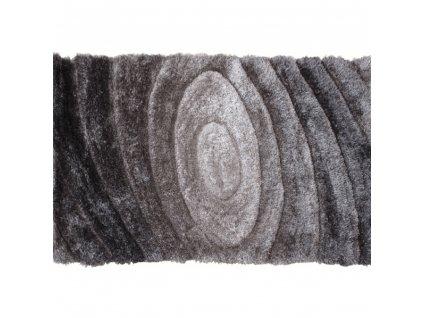 Koberec, šedý vzor, 170x240, VANJA