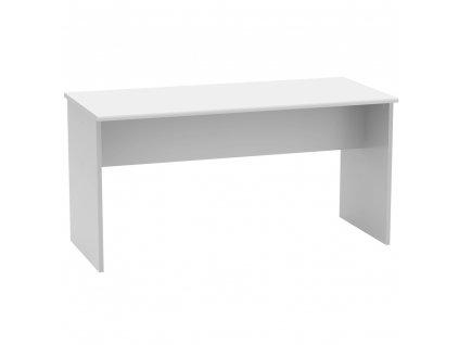 Kancelářský stůl, oboustranný, bílá, JOHAN 2 NEW 08