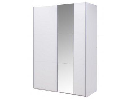 Šatní skříň BISMARK 150 bílá/bílá