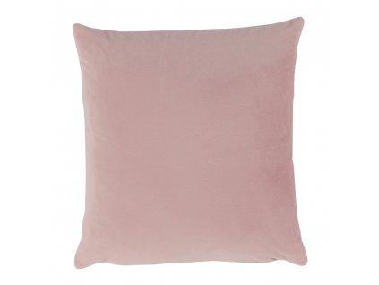 Polštář, sametová látka pudrová růžová, 45x45, ALITA TYP 2