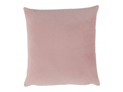 Polštář, sametová látka pudrová růžová, 60x60, Olaja TYP 2