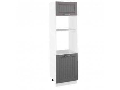 Vestavná skříňka, tmavě šedá/bílá, JULIA TYP 81