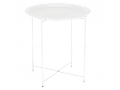 Příruční stolek s odnímatelnou tácem, bílá, RENDER