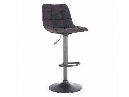 Barová židle, šedá / černá, LAHELA