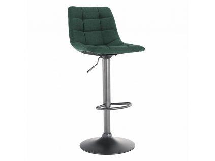 Barová židle, zelená / černá, LAHELA