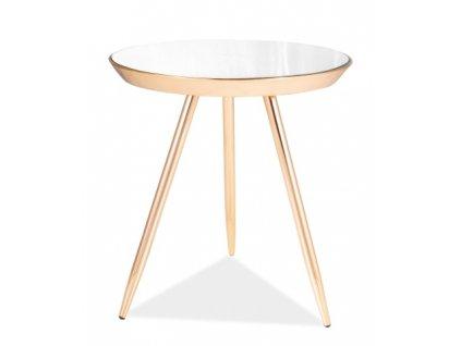 Konferenční stolek BORA C zlatá/zrcadlo