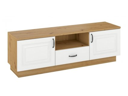 Televizní stolek 2D1S FEDERICO dub artisan/bílá
