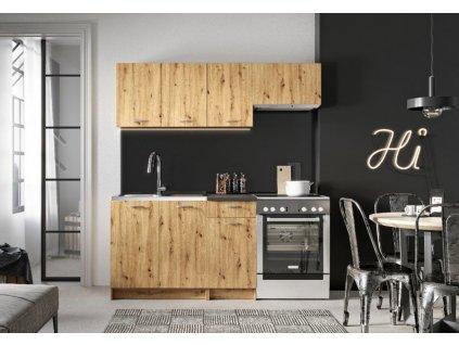Kuchyně MELVIN 180 s PD dub artisan