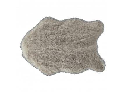 Umělá kožešina, krémově hnědá, 60x90, MALONE