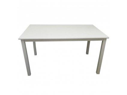 Jídelní stůl, bílá, 135 cm, ASTRO