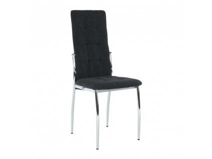 Židle, černá látka / kov, ADORA NEW