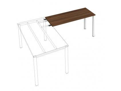 Uni - Stůl pracovní délky 140 cm (hloubka 60 cm) k řetězení