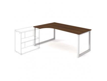 Uni O - Stůl ergo 180 x 120 cm, pravý
