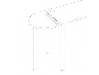 Uni O - Úhelník Uni pro stoly 600 mm