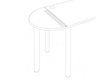 Uni O - Úhelník Uni pro stoly 800 mm