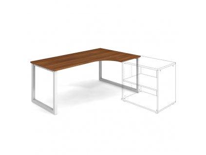 Uni O - Stůl ergo 180 x 120 cm, levý