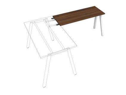Uni A - Stůl pracovní délky 140 cm (hloubka 60 cm) k řetězení