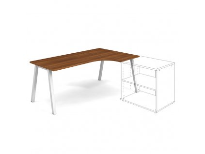 Uni A - Stůl ergo 180 x 120 cm, levý
