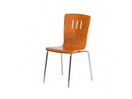 Dřevěná židle, TŘEŠEŇ/CHROM
