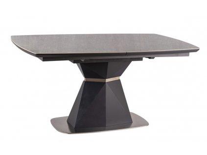 Jídelní stůl CORTEZ rozkládací šedá antracit/mramor