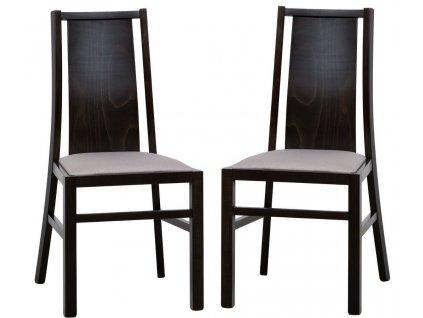 Jídelní čalouněná židle VOLANO 121 (2ks) wenge