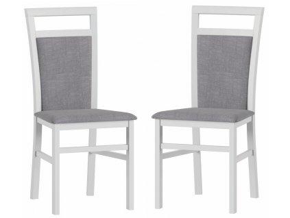 Čalouněná židle LUSIA 101 (2ks) bílá mat