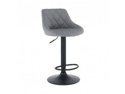 Barová židle, šedá/černá, TERKAN
