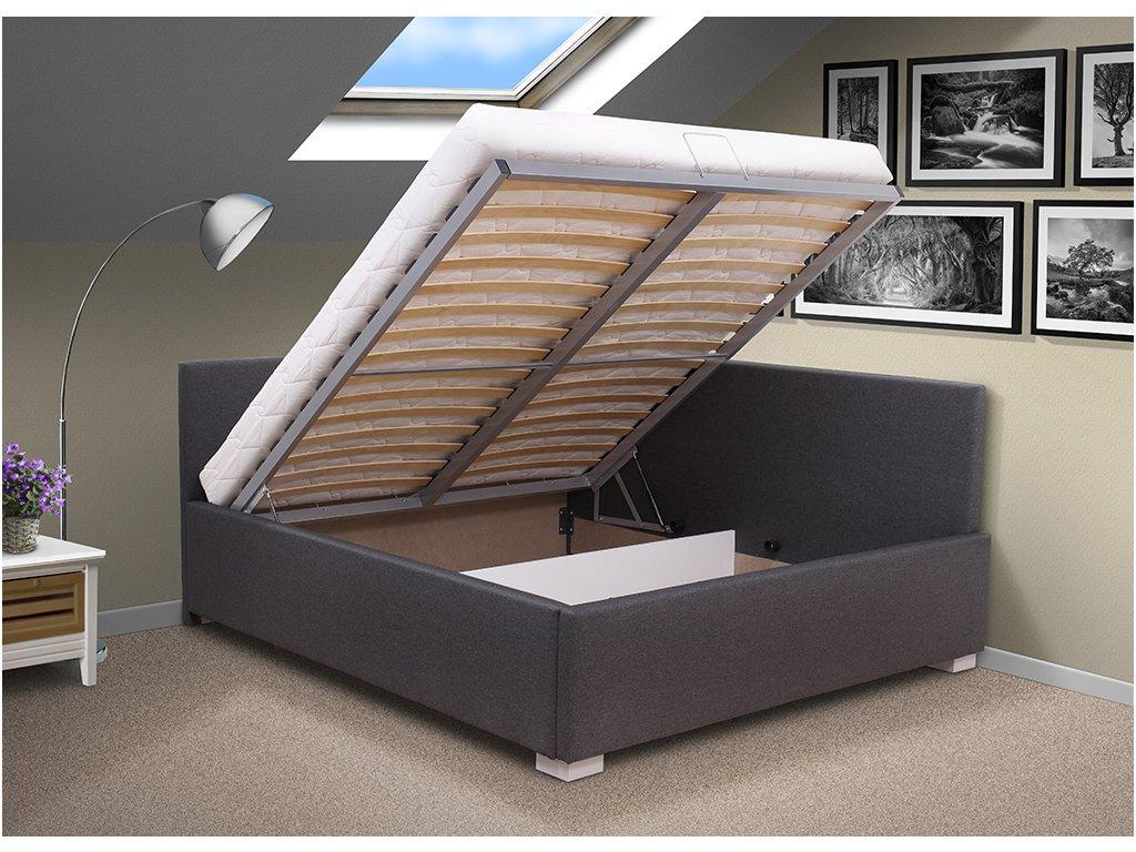 Levn postel s ely martina 140x200 cm obraz zdarma for Schlafcouch 180 x 200