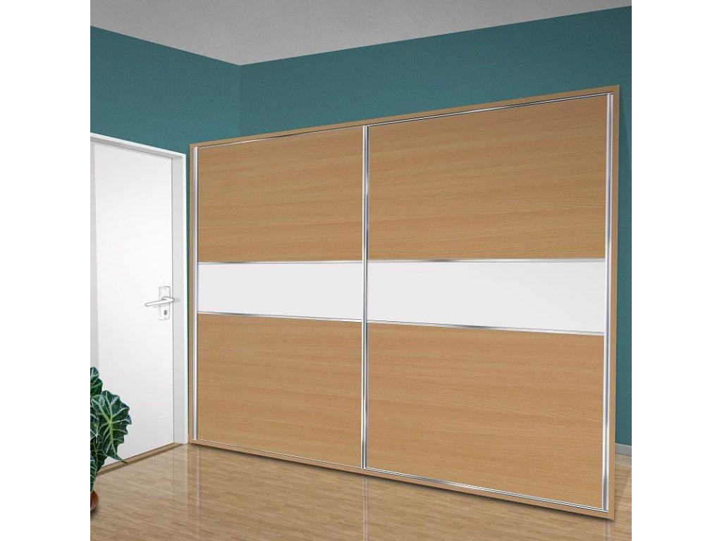 Vestavná šatní skříň do ložnice - variabilní Beta 48