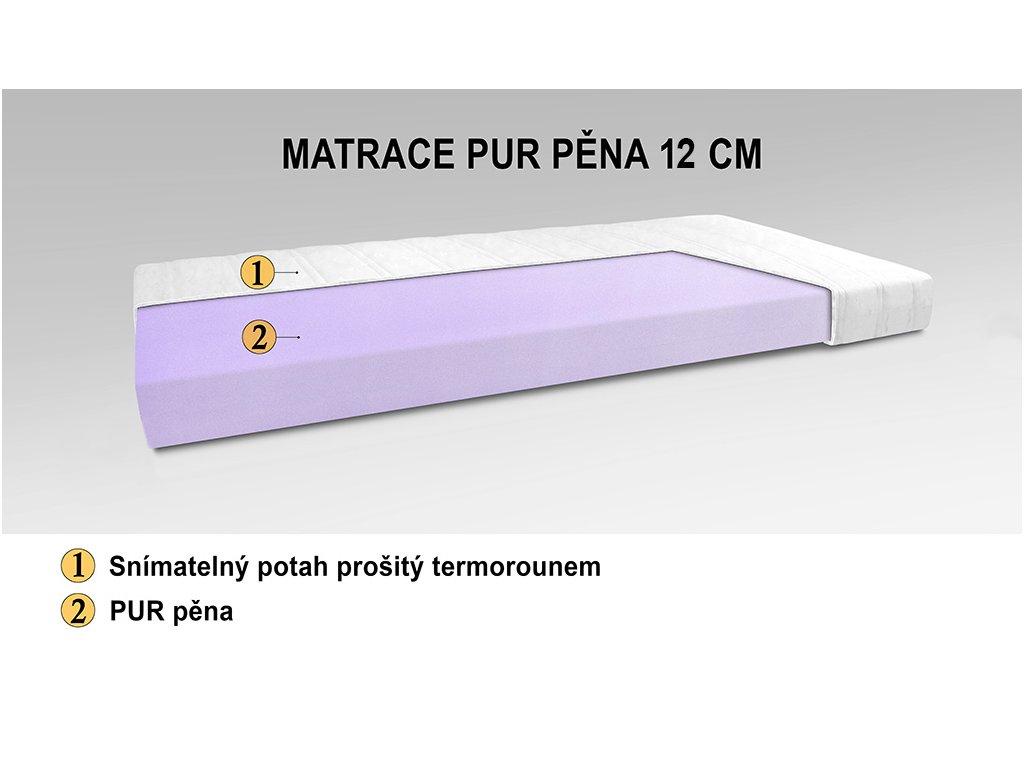 MATRACE 1 PUR 12 cm web