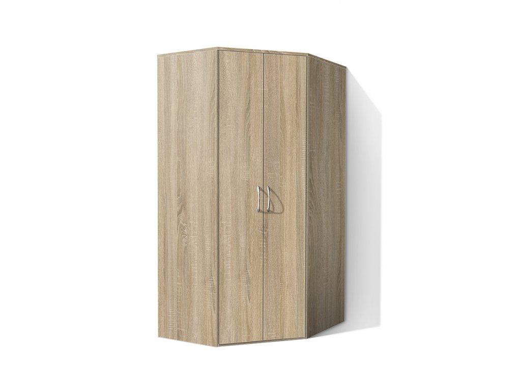 Rohová šatní skříň Alfa 20  + DÁREK - OBRAZ ZDARMA