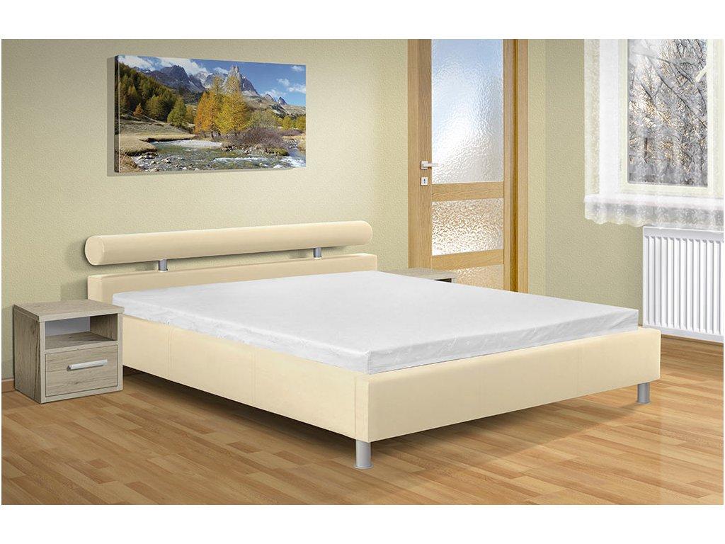 f43ecae53594 Moderní manželská postel s úložným prostorem a roštem