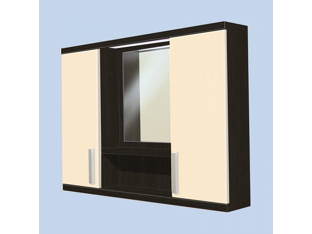 Závěsná koupelnová skříňka se zrcadlem Kristýna 17