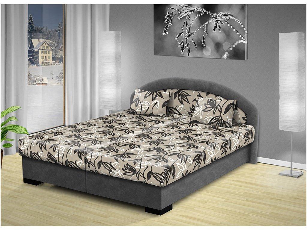 Manželská postel s úložným prostorem Lenka 170x200 cm  + DÁREK: 2 ks prostěradlo š.80-90 cm ZDARMA