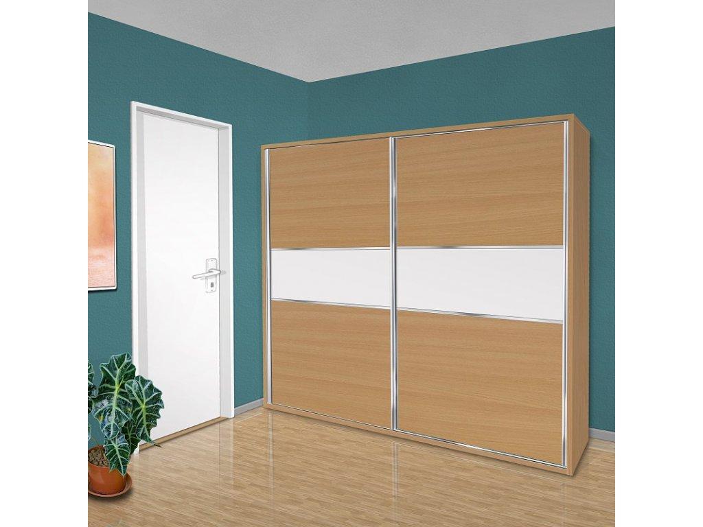 Šatní skříň s posuvnými dveřmi Beta 43