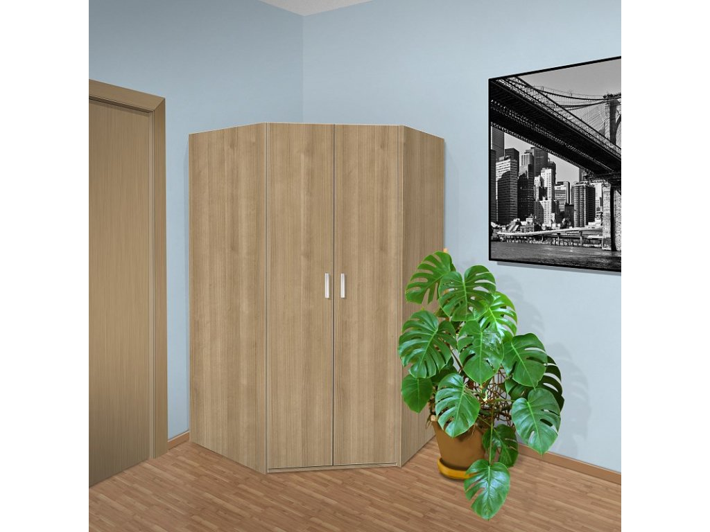 Rohová skříň do ložnice Beta 32
