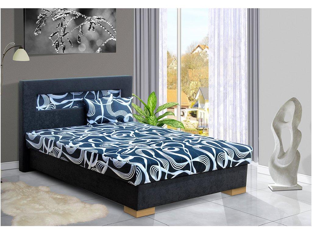 Čalouněná postel s úložným prostorem Mia Ivana  + obraz zdarma
