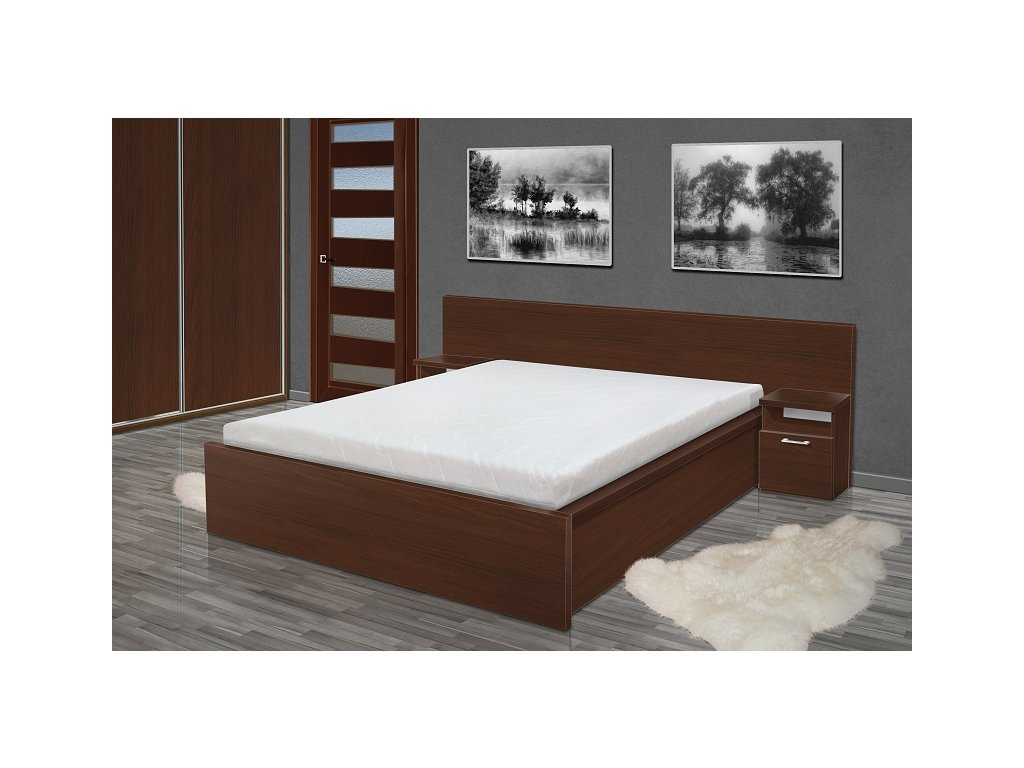 Manželská postel s matrací a roštem Simon 180