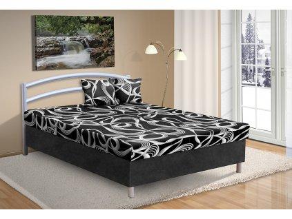 Čalouněná postel s úložným prostorem Andre 140x200cm