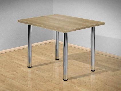Jídelní stůl 100x80 cm s kovovými nohami