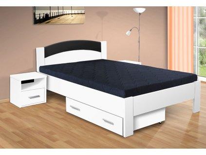 Manželská postel s úložným prostorem Jason 200x180 cm bílá