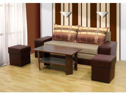 Rozkládací pohovka Wiki 2 + stolek + 2 taburety