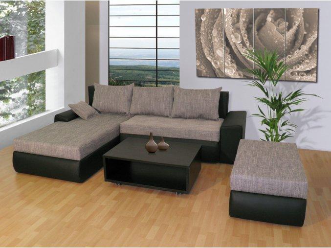 Luxusní sedací souprava Wiena + taburet + konferenční stolek  + obraz zdarma