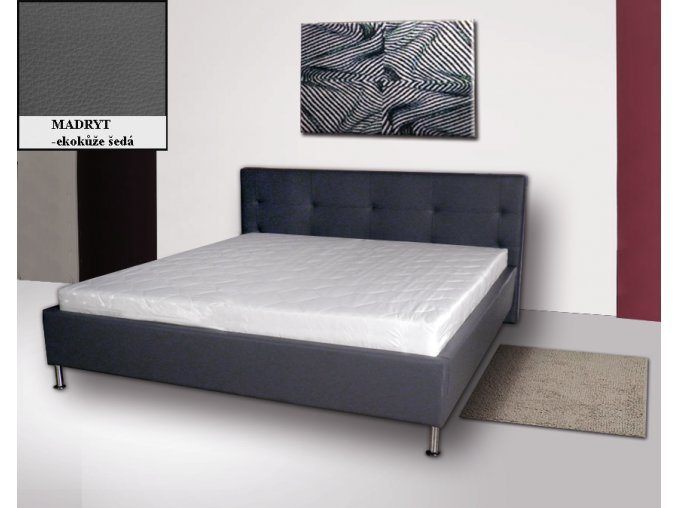 Luxusní postel s úložným prostorem Korida 180x200cm  + Obraz zdarma