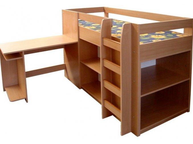 P2 Patrová postel se schůdky