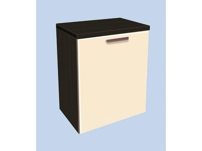 Závěsná koupelnová skříňka s košem Kristýna 13